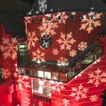 outdoor Leesburg Christmas snowflake red lighting
